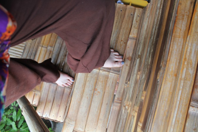 Bamboo steps